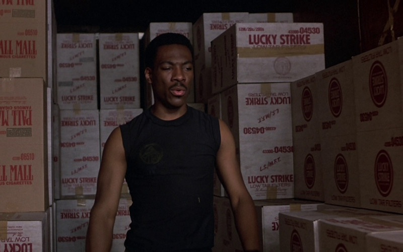 Pall Mall & Lucky Strike Cigarettes in Beverly Hills Cop (1984)