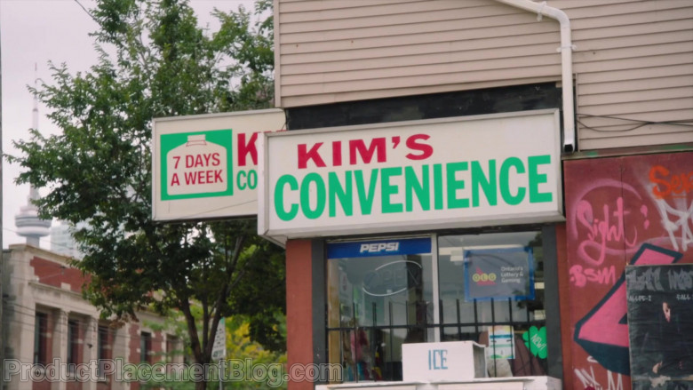 Pepsi Soda Sticker on the Window in Kim's Convenience S05E04 (2)