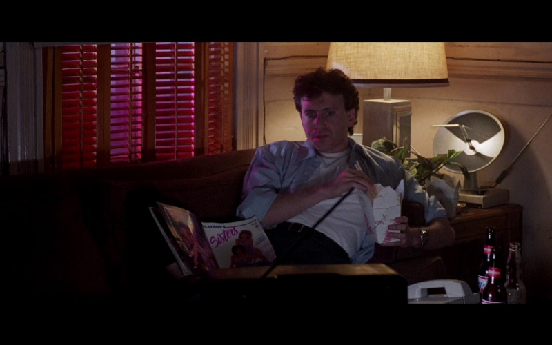 Playboy's Sisters Men's Magazine and Budweiser Bottles in Beverly Hills Cop 2 (1987)