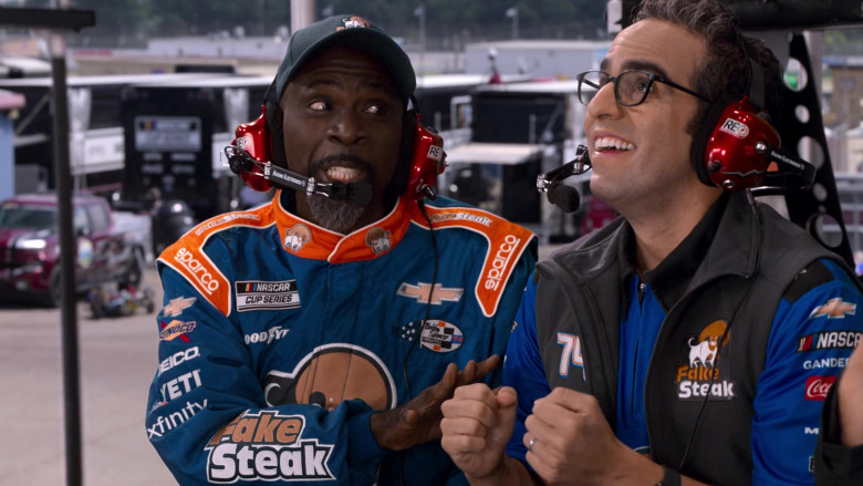 Racing Electronics Headsets, Sparco, Chevrolet, Sunoco, Geico, Yeti, Xfinity in The Crew S01E05