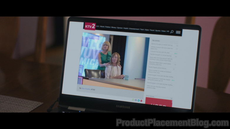 Samsung Laptop of Allison Janney as Sue Buttons in Breaking News in Yuba County (2)