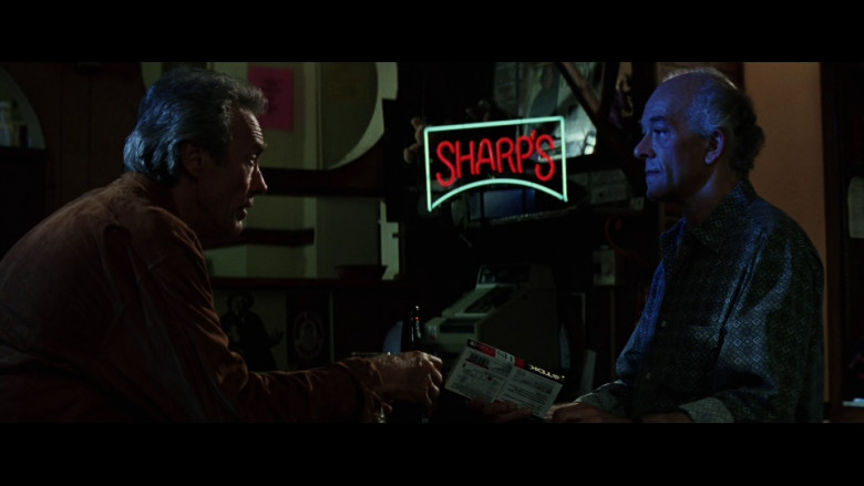 Sharp's Beer Sign and TDK Cassette in Absolute Power (1997)