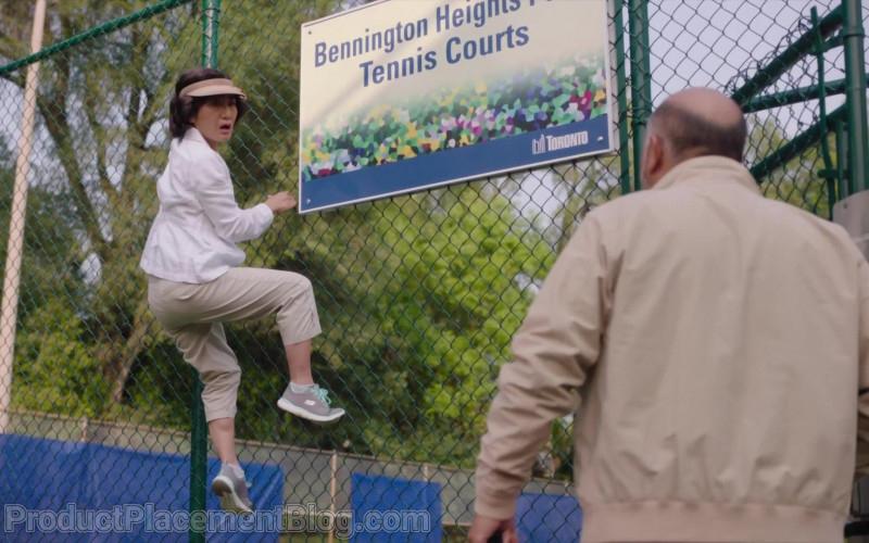 Skechers Women's Shoes of Jean Yoon as Mrs. Yong-mi Kim (Umma) in Kim's Convenience S05E04 Tennis Anyone (2021)