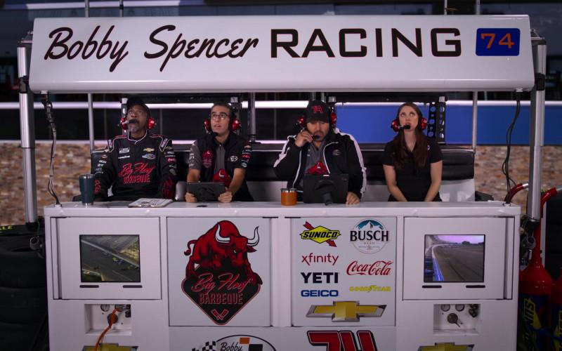 Sunoco, Busch, Xfinity, Coca-Cola, Yeti, Geico, Goodyear, Chevrolet in The Crew S01E02
