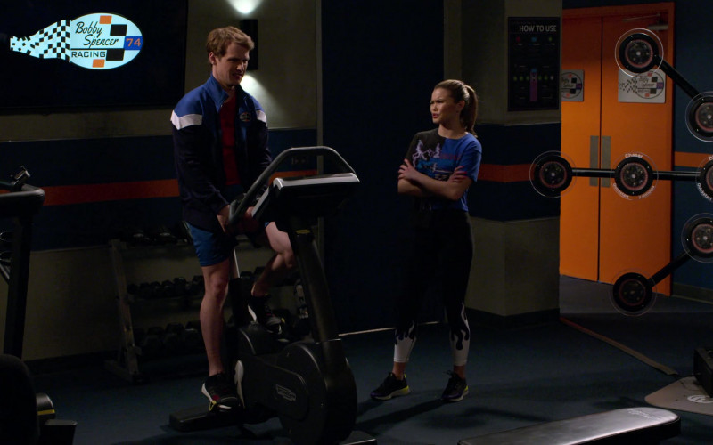 Technogym Exercise Bike Used by Freddie Stroma as Jake in The Crew S01E06