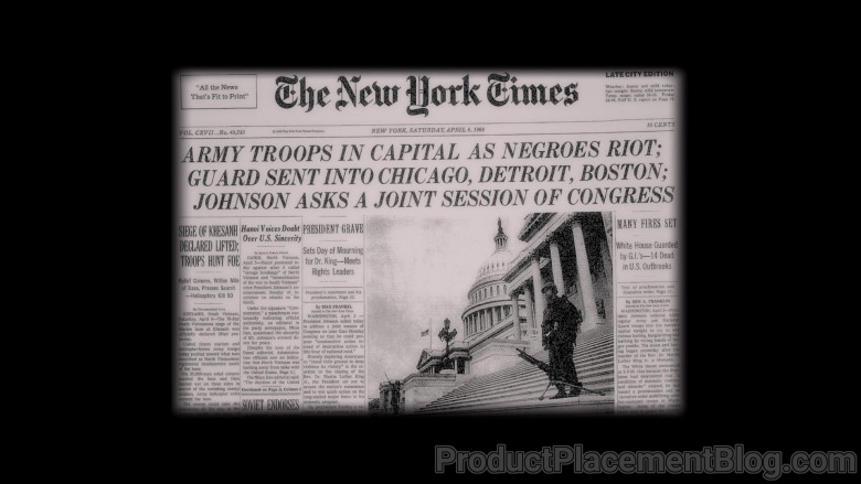 The New York Times Newspaper in Judas and the Black Messiah (2021)