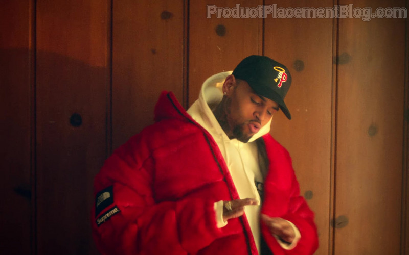 The North Face x Supreme Red Jacket of Chris Brown in Provide 2021 (2)