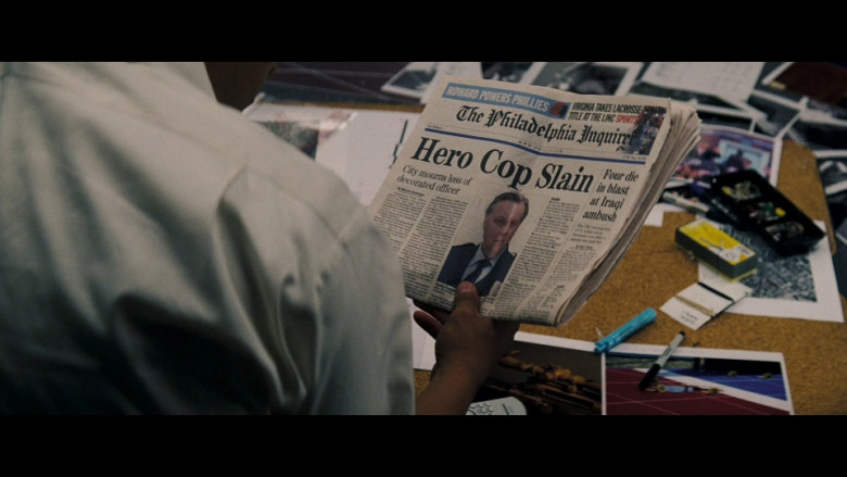 The Philadelphia Inquirer Newspaper in Shooter (2007)