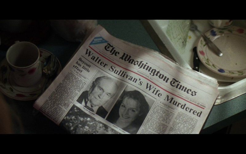 The Washington Times Newspaper in Absolute Power (1997)