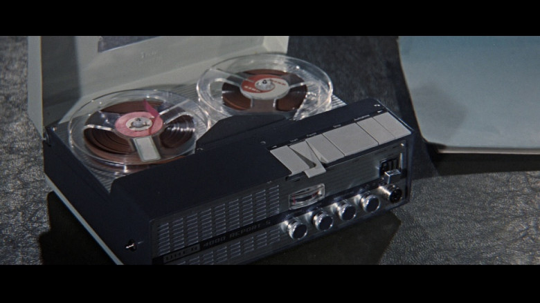 Uher 4000 Report-S portable open-reel magnetic-tape audio recorders in Thunderball (1965)