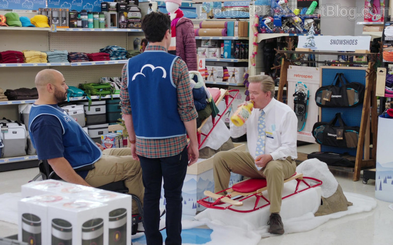 Zippo and Retrospec Snowshoes in Superstore S06E09 Conspiracy (2021)