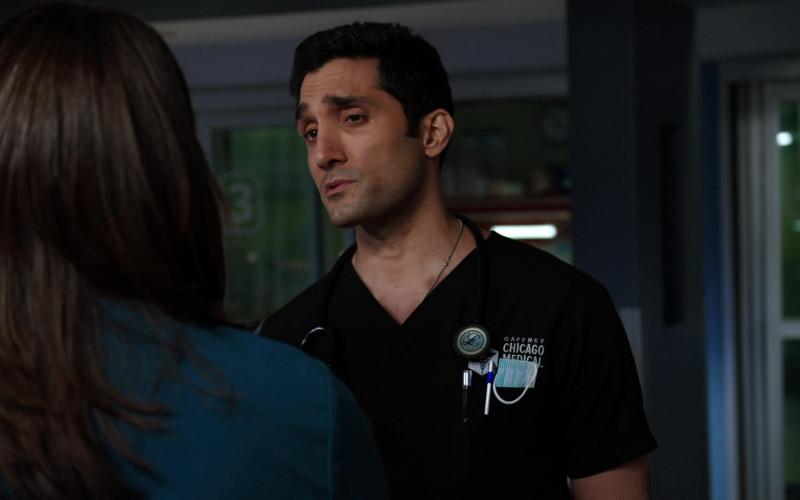 3M Littmann Stethoscope of Cast Member Dominic Rains as Dr. Crockett Marcel in Chicago Med S06E09 TV Show (1)