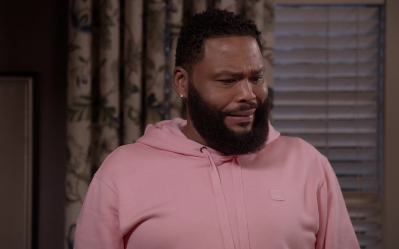 Acne Men's Pink Hoodie Worn by Anthony Anderson in Black-ish S07E14 (2)