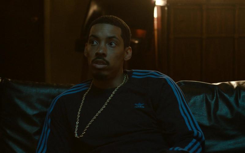 Adidas Men's Sweatshirt Worn by Actor in Snowfall S04E06 Say a Little Prayer (2021)