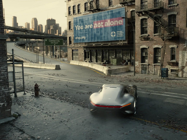 American Foundation For Suicide Prevention Voluntary Organization Billboard In Zack Snyder's Justice League (2021)