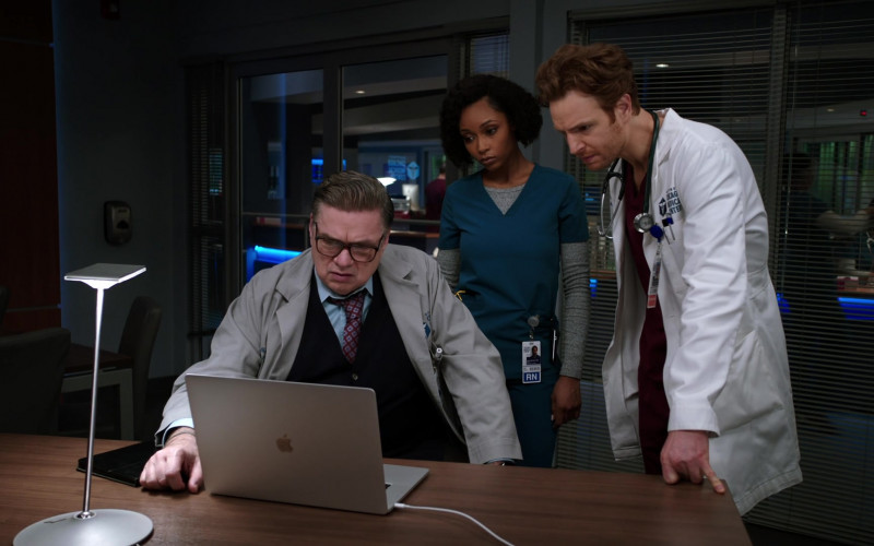 Apple MacBook Laptop Used by Cast Member Oliver Platt as Dr. Daniel Charles in Chicago Med S06E09 TV Show