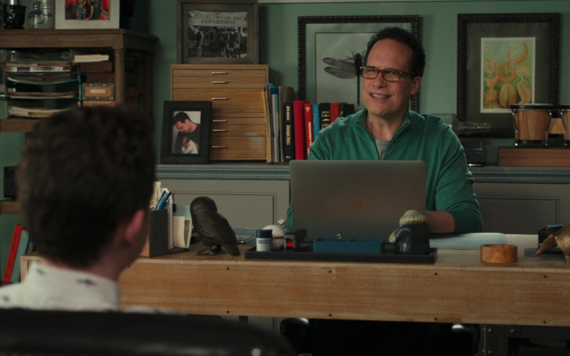 Apple MacBook Laptop of Actor Diedrich Bader as Greg Otto in American Housewife S05E11 The Guardian (2021)