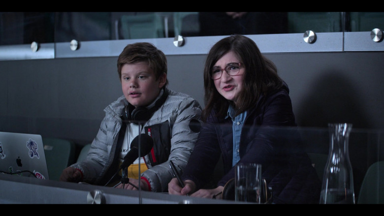 Apple MacBook Laptop of Maxwell Simkins as Nick Gaines in The Mighty Ducks Game Changers S01E01 Game On (2021)