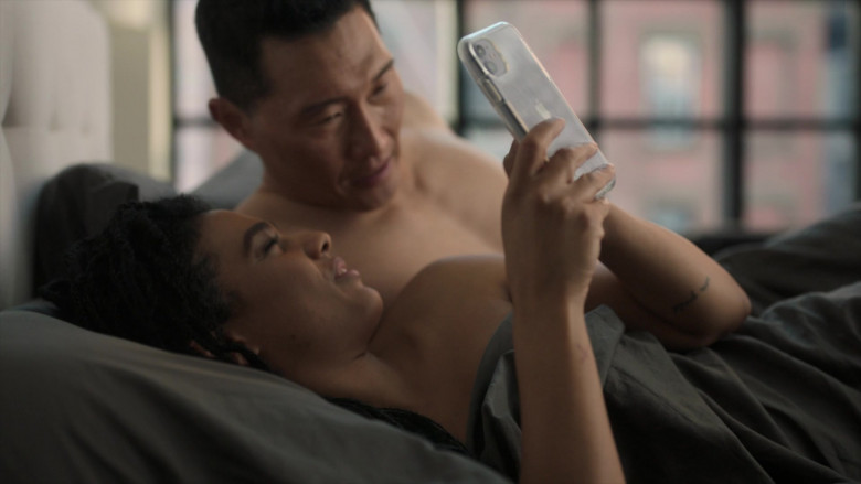 Apple iPhone Smartphone of Actress Freema Agyeman as Dr. Helen Sharpe in New Amsterdam S03E04 This Is All I Need (2021)