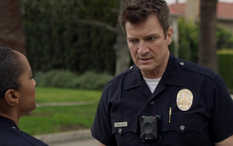 Axon Body Camera of Nathan Fillion as John Nolan in The Rookie S03E08 TV Show (1)