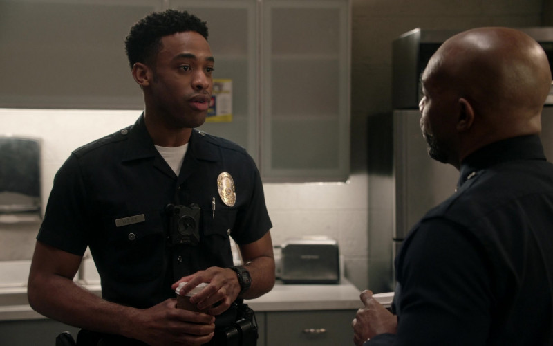 Axon Body Camera of Titus Makin Jr. as Jackson West in The Rookie S03E08 Bad Blood (2021)