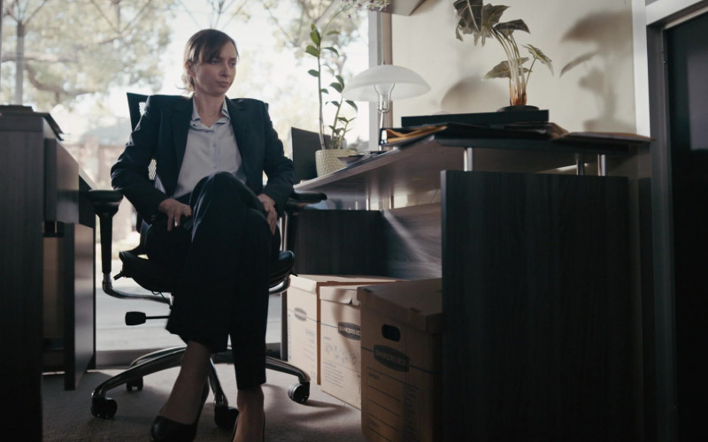 Bankers Boxes of Lauren Lapkus as Agent Phoebe Donnegan in Good Girls S04E03 Fall Guy (2021)