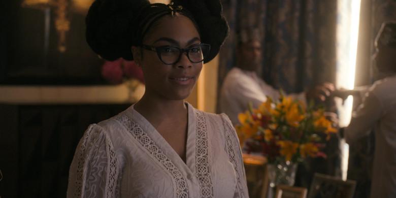 Bella Murphy as Princess Omma Joffer Wears Hermes Eyeglasses in Coming 2 America Movie (1)