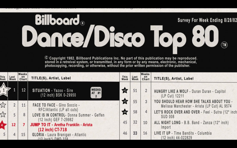 Billboard Magazine in Genius Aretha S03E08 No One Sleeps (2021)