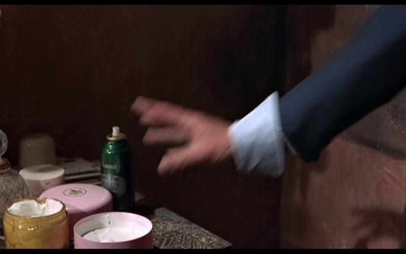 Brut deodorant spray in The Man with the Golden Gun (1974)
