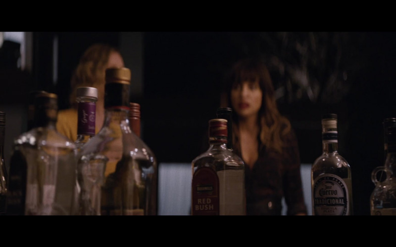 Bushmills Red Bush Whiskey and Jose Cuervo Tequila in Happily (2021)