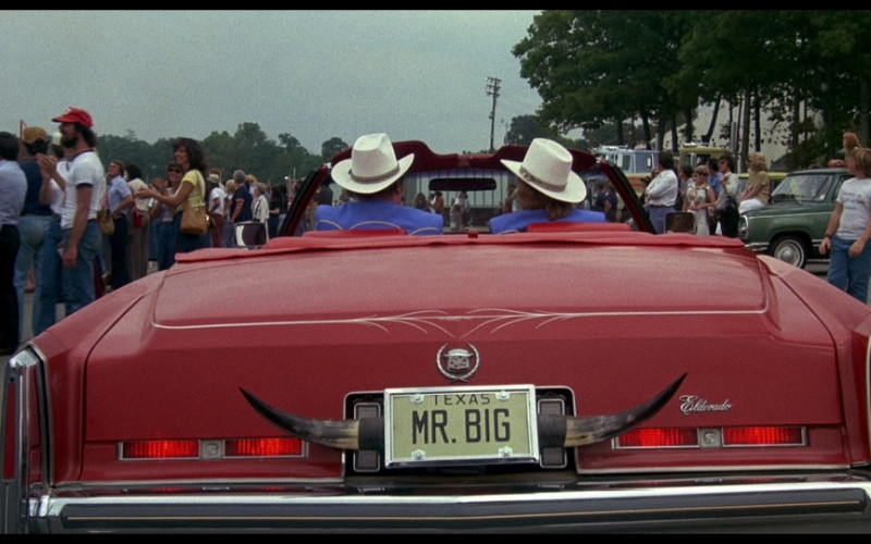 Cadillac Fleetwood Eldorado Red Car in Smokey and the Bandit (1977)