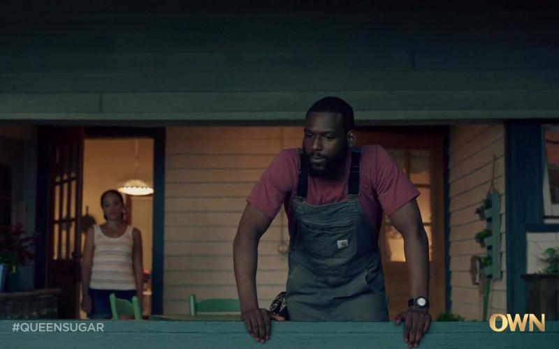 Carhartt Bib Overall of Kofi Siriboe as Ralph Angel Bordelon in Queen Sugar S05E03 TV Show (3)