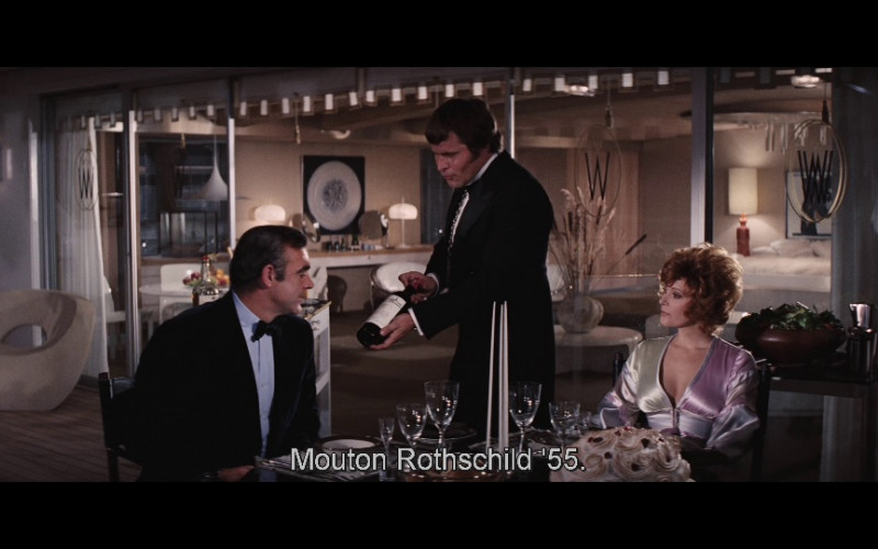 Château Mouton-Rothschild Wine in Diamonds Are Forever (1971)