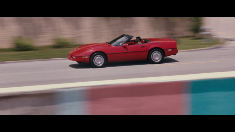 Chevrolet Corvette Convertible Red Car in Passenger 57 Movie (1)