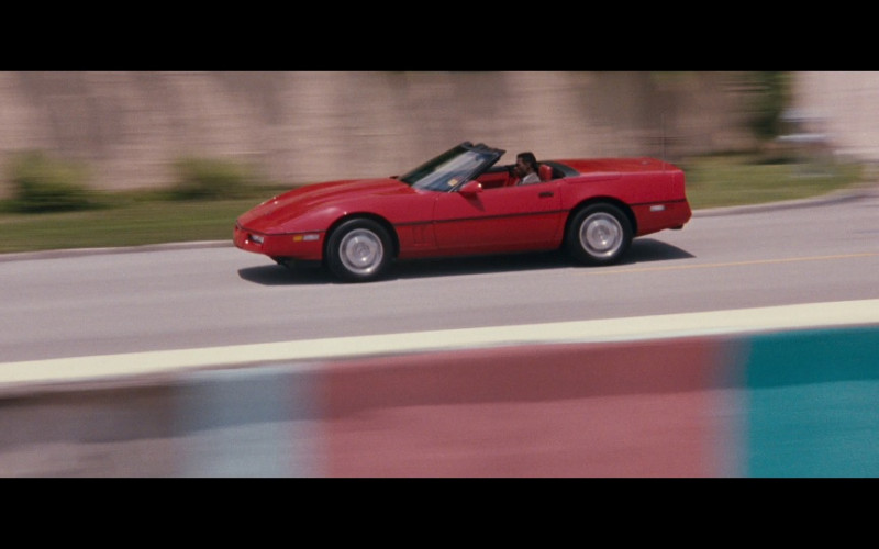 Chevrolet Corvette Convertible Red Car in Passenger 57 Movie (1)