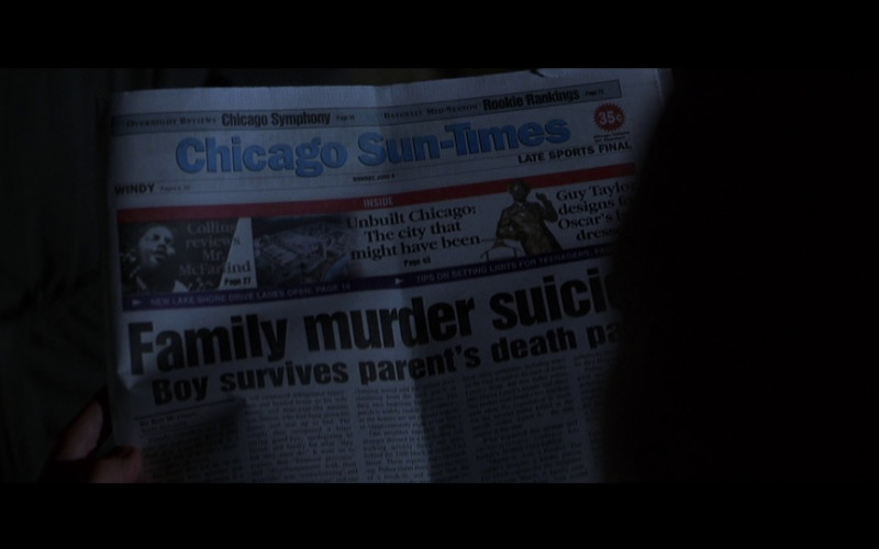 Chicago Sun-Times Newspaper in Mercury Rising (1998)