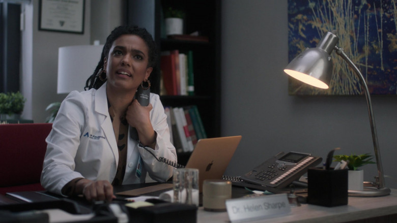 Cisco Systems Telephone Used by Freema Agyeman as Dr. Helen Sharpe in New Amsterdam S03E04 This Is All I Need (2021)
