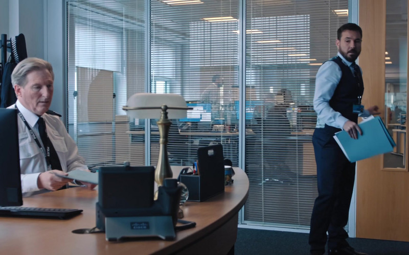 Cisco Telephone of Adrian Dunbar as Ted Hastings in Line of Duty S06E01 (2021)