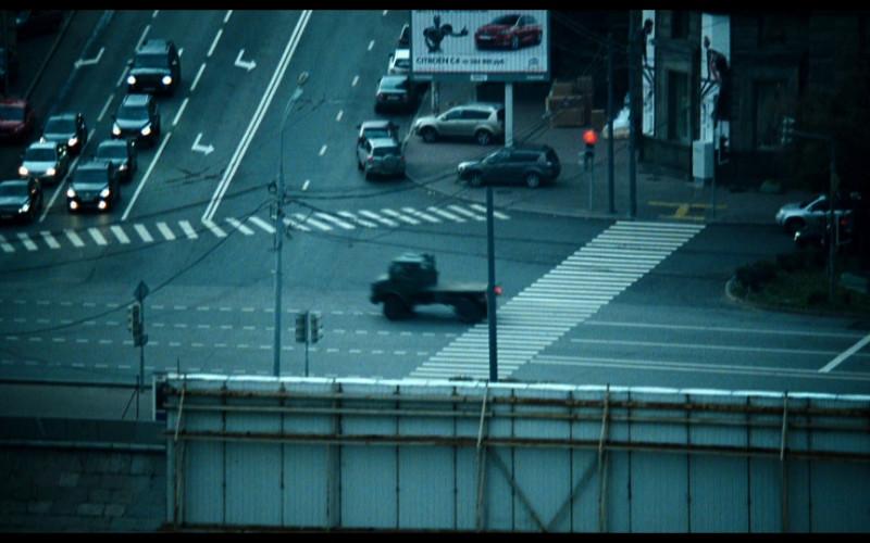Citroën C4 billboard in A Good Day to Die Hard (2013)