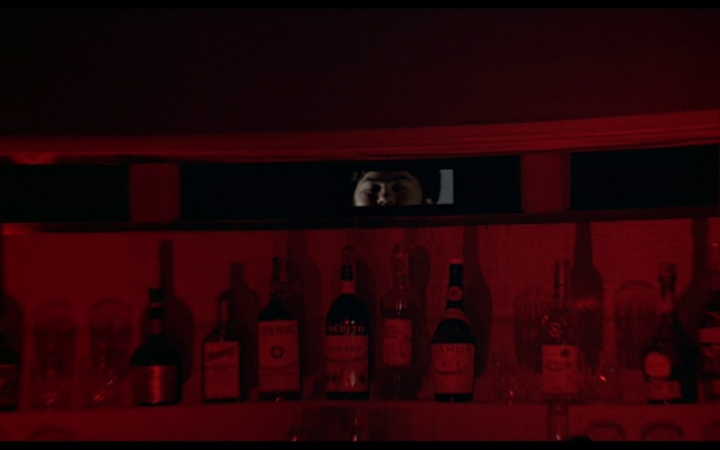 Cointreau, Teacher's whisky, Merjito Sherry, Camus cognac in The Man with the Golden Gun (1974)