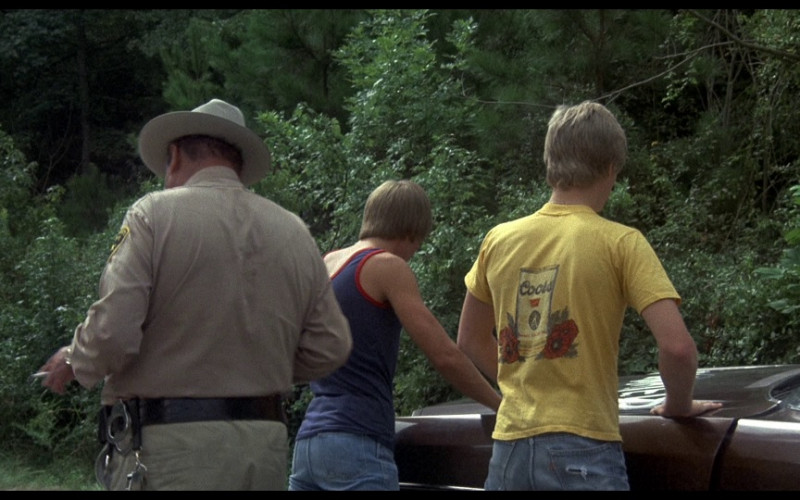 Coors Yellow T-Shirt in Smokey and the Bandit (1977)