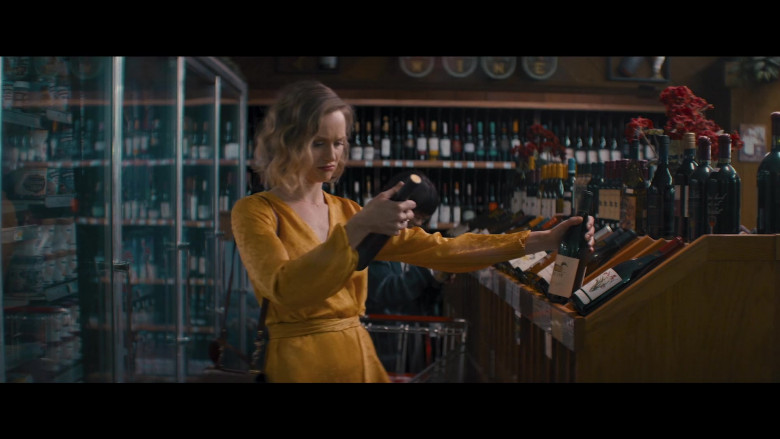 Decoy Wine Bottle Held by Kerry Bishé as Janet in Happily (2021)
