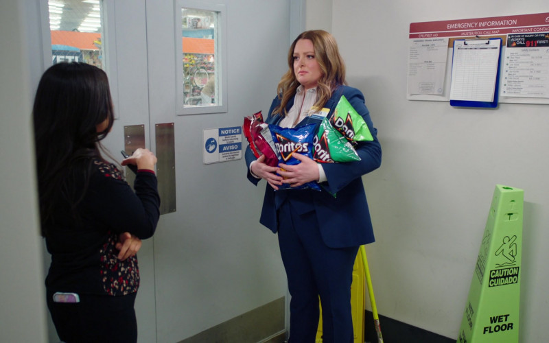 Doritos Chips Held by Lauren Ash as Dina Fox in Superstore S06E14 Perfect Store (2021)