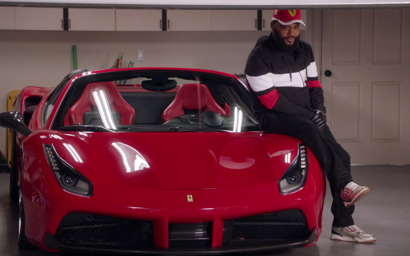 Ferrari 488 Red Sports Car in Black-ish S07E16 TV Show 2021 (1)