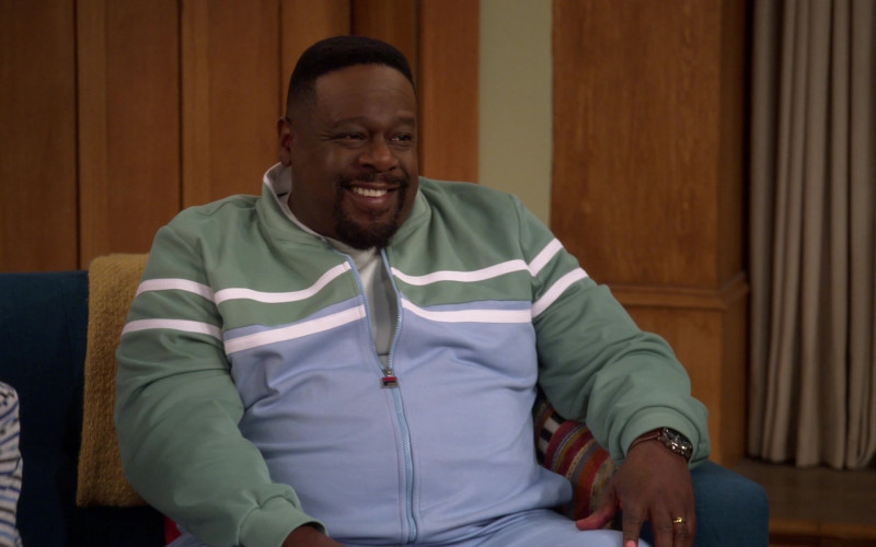 Fila Men's Tracksuit Outfit Worn by Cedric the Entertainer in The Neighborhood S3E11 TV Show (3)