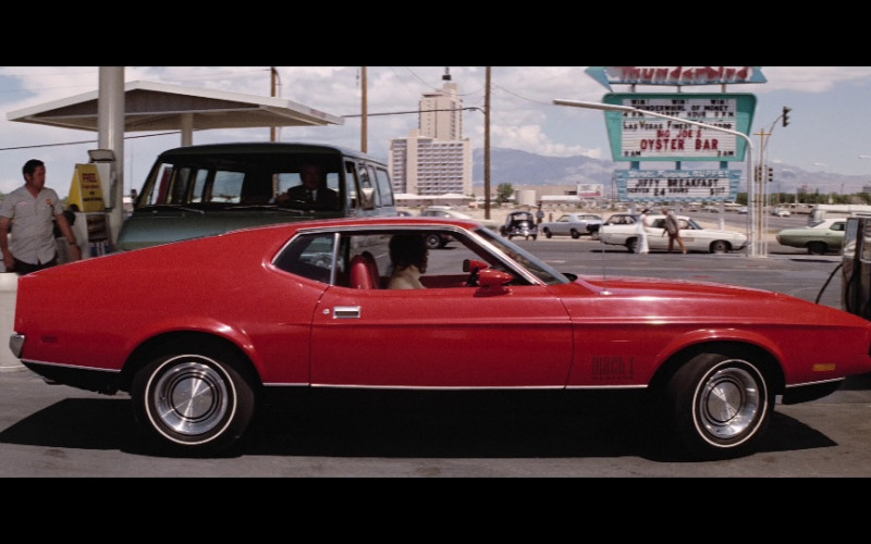 Ford Mustang Mach 1 Red Car in Diamonds Are Forever Movie (1)