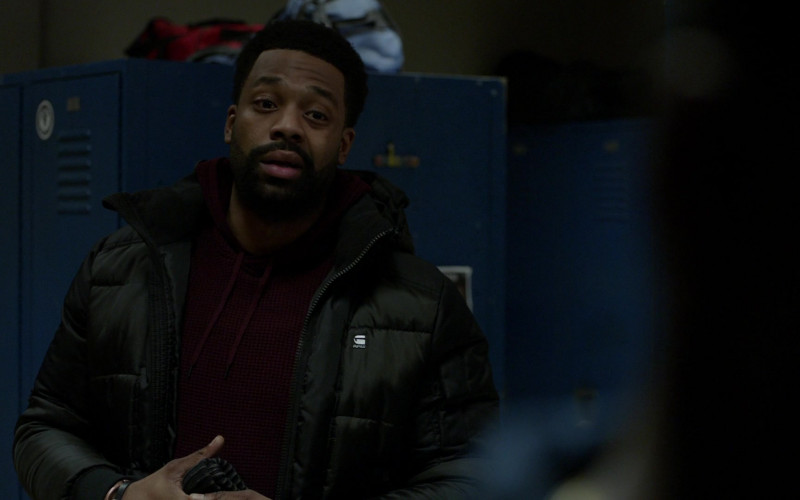 G-Star RAW Jacket of Cast Member LaRoyce Hawkins as Officer Kevin Atwater in Chicago P.D. S08E09 TV Show (6)