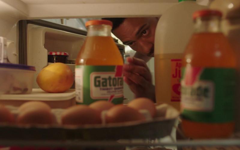 Gatorade Drinks of Uli Latukefu as 18–20-year-old Dwayne Johnson in Young Rock S01E04 TV Show (1)