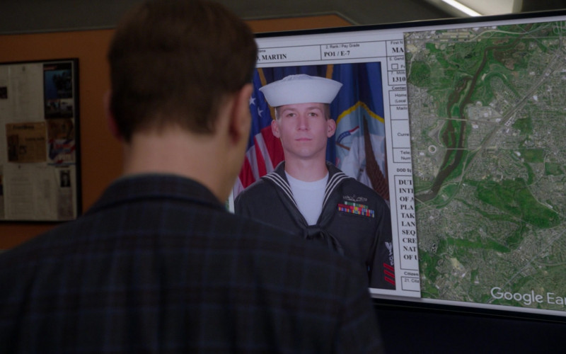 Google Earth Software in NCIS S18E09 Winter Chill (2021)