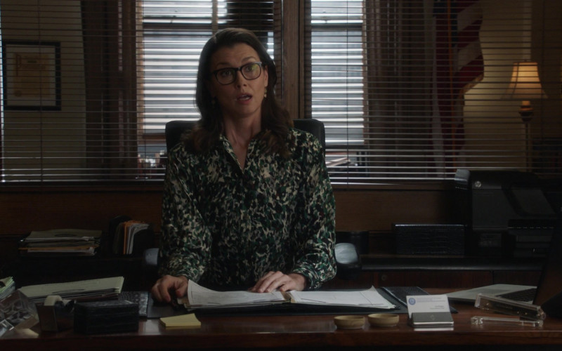 HP Printer of Bridget Moynahan as Erin Reagan in Blue Bloods S11E09 For Whom the Bell Tolls (2021)